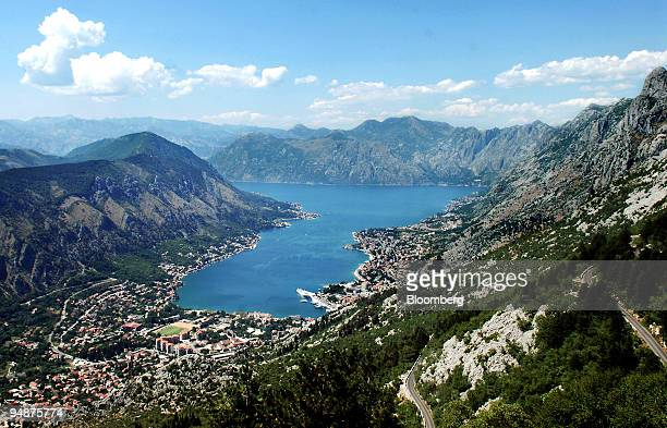 The town of Kotor sits on the Bay of Boka Kotorska in Montenegro on Thursday July 10 2008 Montenegro adopted the euro as its official currency...