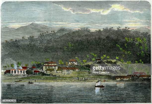 The town of Morant Morant Bay Jamaica c1880