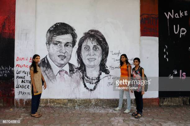 The town of Mumbai Mural frescos after the Mumbai attacks by Islamic terrorists from Pakistan on November 26th 2008 173 people were killed and at...