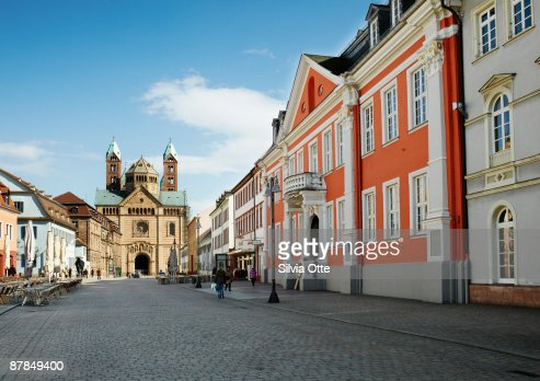 the town of Speyer with Cathedral : ストックフォト