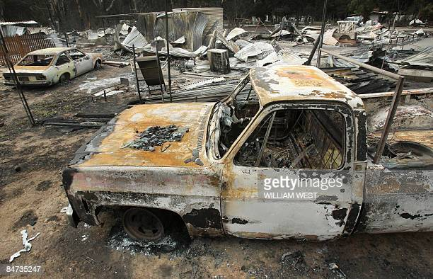 The township of Flowerdale lies in ruins after the bushfires decimated the small community some 100 kilometres north of Melbourne on February 11 2009...