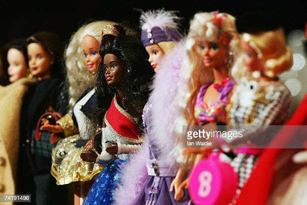 The toy doll Barbie appears in her various incarnations at Leuralla NSW toy and railway museum as the iconic doll approaches her 50th birthhday May...