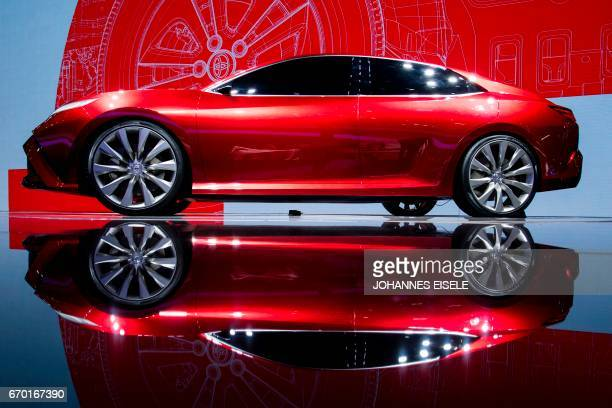 The Toyota Fengchao Fun concept car is presented during the first day of the 17th Shanghai International Automobile Industry Exhibition in Shanghai...