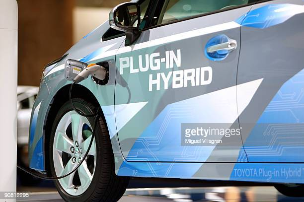 The Toyota Prius PlugIn Hybrid concept car is displayed at the international motor show IAA on September 16 2009 in Frankfurt am Main GermanyThe...