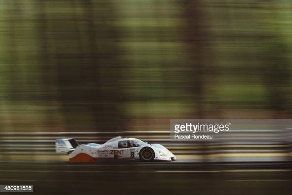 The Toyota Team Tom's Toyota TS010 driven by Jan LammersAndy Wallace and Teo Fabi during the FIA World Sportscar Championship 24 Hours of Le Mans...