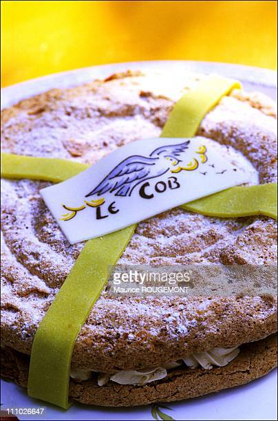 The traditional Cob cake named after a rock facing Les Souzeaux beach in Noirmoutier Island in Ile de Noirmoutier France on October 17th 2005