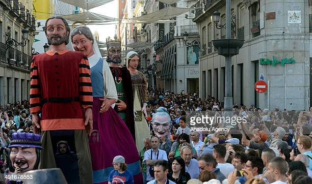The traditional festival in honor of San Isidro is held in an openair area known as the Pradera del Santo in the capital Madrid Spain on May 15 2014...