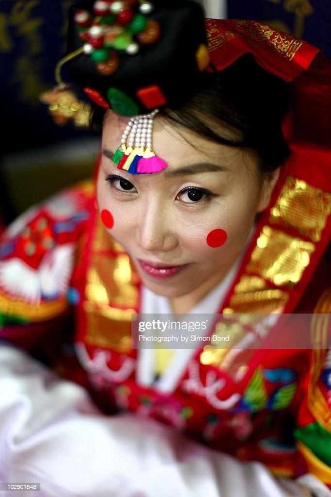 The traditional Korean bride
