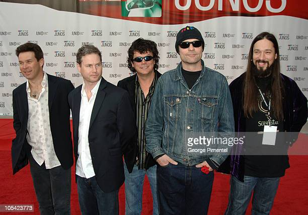 The Tragically Hip during 2005 Canadian Juno Awards Arrivals at MTS Centre in Winnipeg Manitoba Canada