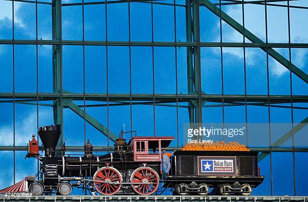 The train at Union Station at Minute Maid Park on May 19 2015 in Houston Texas