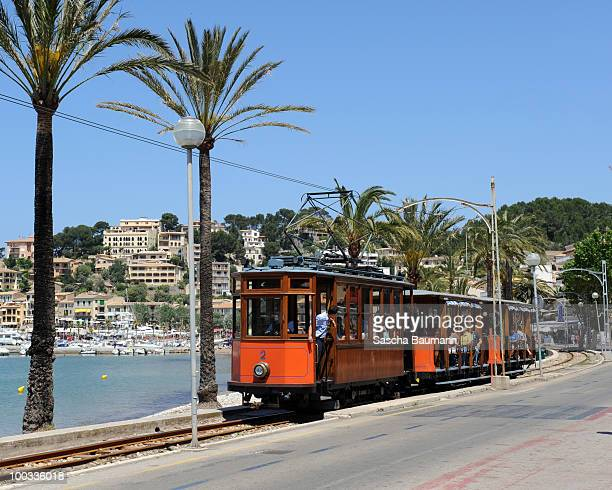 The train of Soller on May 22 2010 in Soller Mallorca Spain