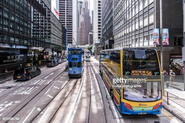 The tram, central, Hong Kong
