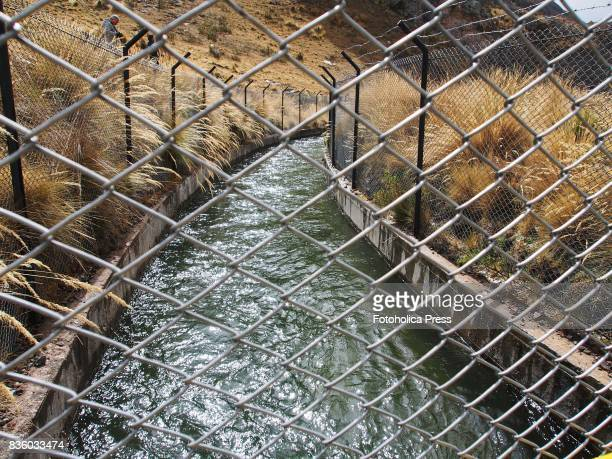 MARCAPOMACOCHA YAULI JUNIN PERU The transAndean aqueduct at Marcapomacocha The Lima Water and Sewerage Service organized a tour of its facilities 'By...