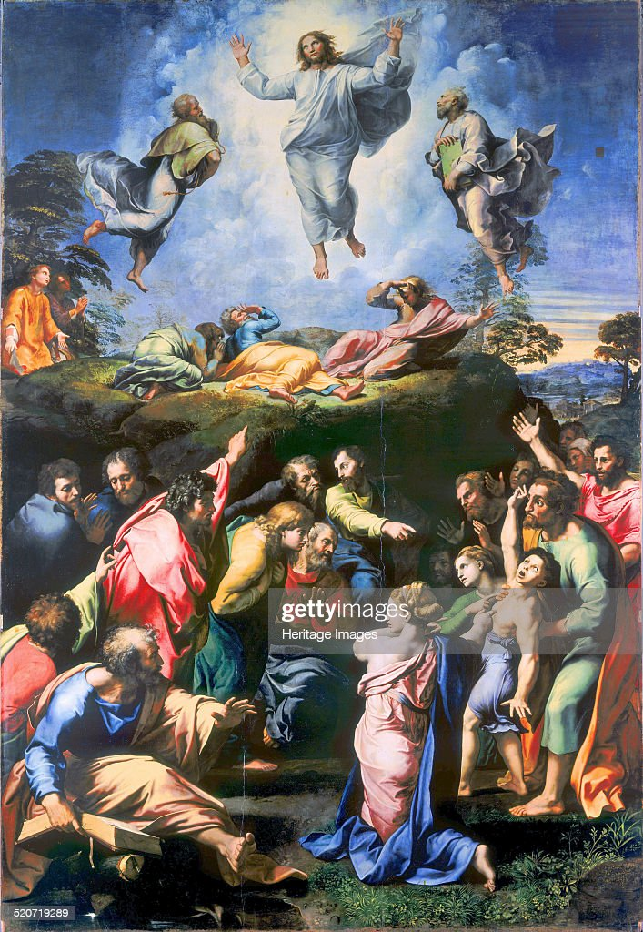 The Transfiguration of Christ. Found in the collection of Pinacoteca Vaticana, Rome.
