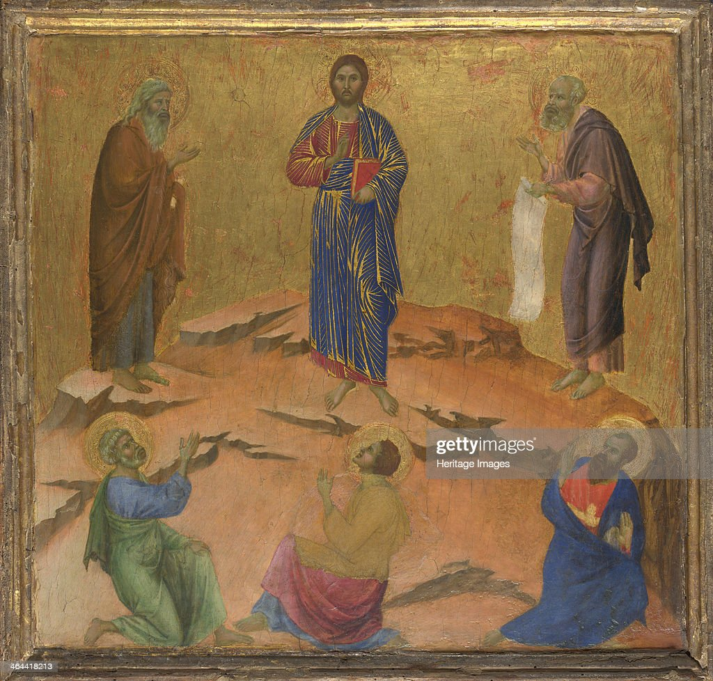 The Transfiguration of Jesus, ca 1308-1311. Found in the collection of the National Gallery, London.