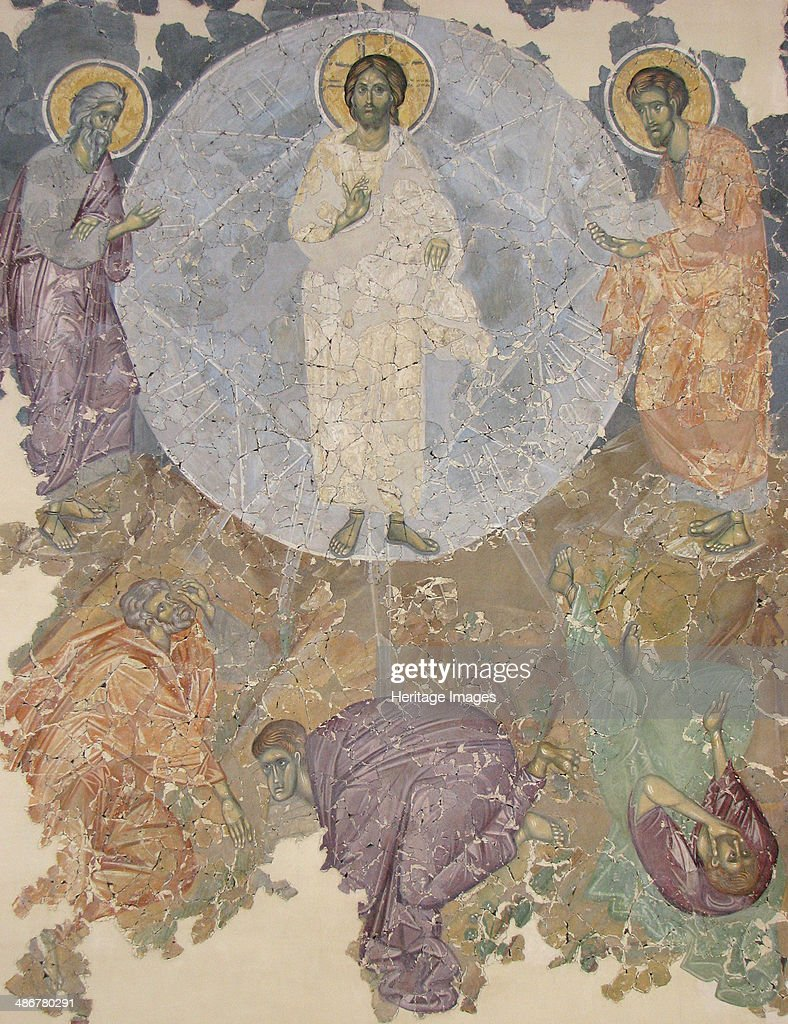 The Transfiguration of Jesus, ca 1380. Artist: Ancient Russian frescos