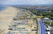 The transition area during the Challenge Family Triathlon Rimini on May 26 2013 in Rimini Italy