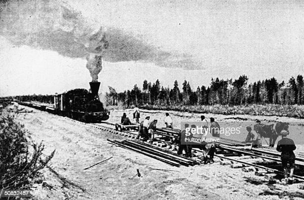 The transSiberian railway under construction circa 1903 Original publication The Graphic 10th January 1903