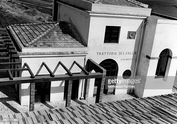 The Trattoria del Gallo in Borgo Bonsignore built during the area regeneration sponsored by the Ente di Colonizzazione del Latifondo Siciliano Borgo...