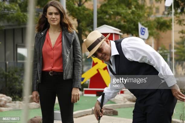 THE BLACKLIST 'The Travel Agency' Episode 506 Pictured Megan Boone as Elizabeth Keen James Spader as Raymond 'Red' Reddington