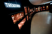 The treasure chamber of the Swarovski Crystal Worlds inside the 'Giant' during the grand reopening on April 28 2015 in Wattens Austria The Crystal...