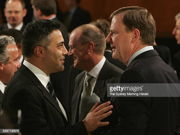 The Treasurer Peter Costello celebrates ten years in the position After addressing the National Press Club Mr Costello meets with Ahmed Fahour who is...