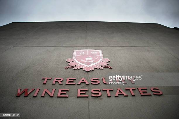 The Treasury Wine Estates Ltd logo is displayed at the company's headquarters in Melbourne Australia on Monday Aug 18 2014 Treasury Wine said on Aug...