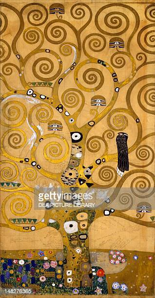 The Tree of Life 19051909 by Gustav Klimt cartoon for the Stoclet Frieze Detail of the left side Vienna Österreichischer Galerie Belvedere