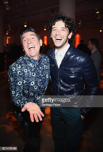 The Trevor Project founder and actor James Lecesne and actor Michael Urie attend Trevor NextGen Spring Fling 2016 on April 15 2016 in New York City