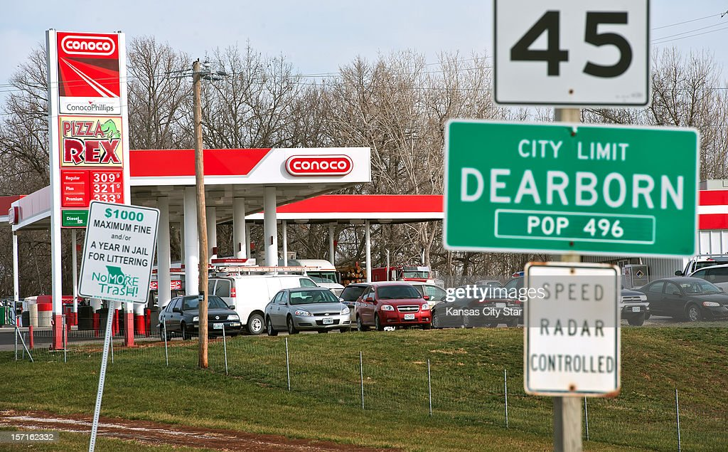 The Trex Mart gas station at 17605 Highway Z in Dearborn, Missouri was one of the locations where the winning Powerball lottery ticket was sold inside the gas station. The location of the winning tickets was announced on Thursday, November 29, 2012.