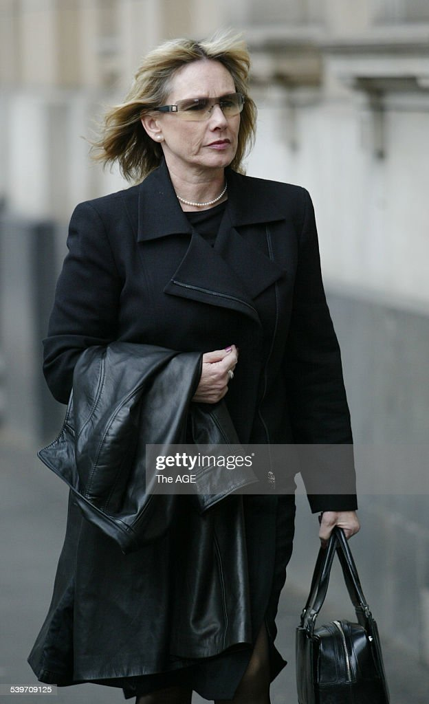 The trial of bouncer Zdravko Micevic Seen here is David Hook's estranged wife Robyn at the Melbourne Supreme Court on 31st August 2005 THE AGE NEWS...