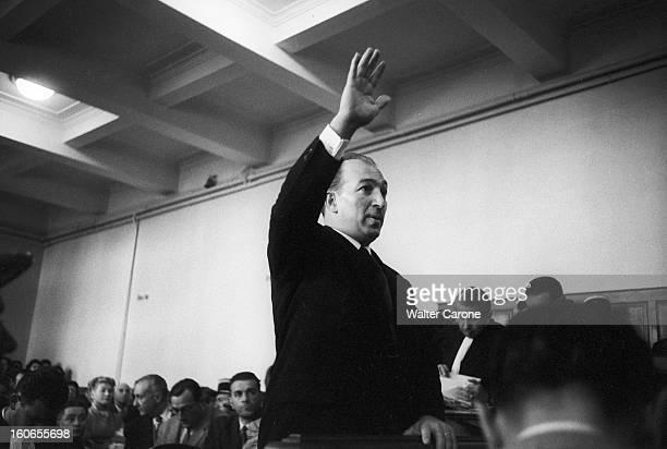 The Trial Of The Dominici Case DignelesBains novembre 1954 Au tribunal dans la salle des assises lors du procès de Gaston DOMINICI Monsieur PANAYOTOU...