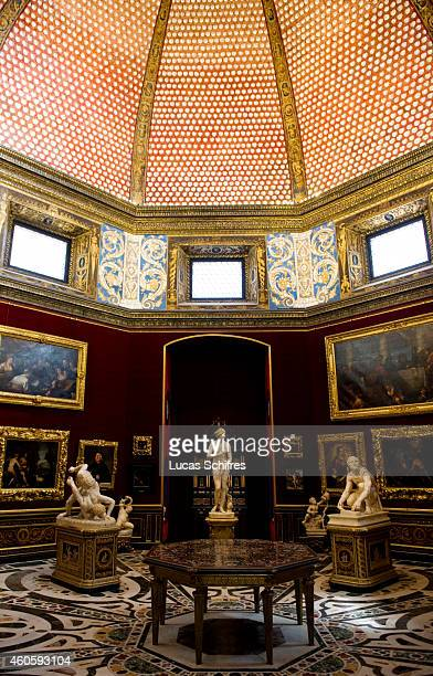 The Tribuna of the Uffizi is an octagonal room part of the Offices museum where the Medici collection is still displayed in the original disposition...