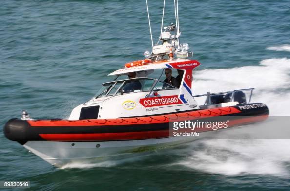 The Trillian Rescue Alpha Coastguard boat patrols the Hauraki Gulf on March 08 2009 in Auckland New Zealand Coastguard New Zealand is celebrating NZ...