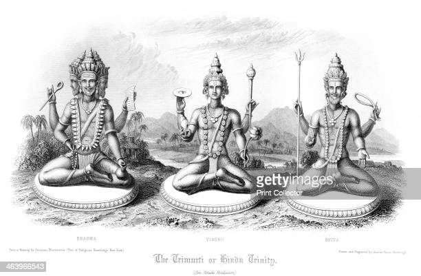 The Trimurti or Hindu Trinity The Trimurti represents the cosmic forces of creation maintenance and destruction personified by the Gods Brahma Vishnu...