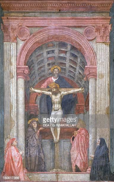 The Trinity ca 14261428 by Tommaso Masaccio fresco 667x317 cm Church of Santa Maria Novella Florence