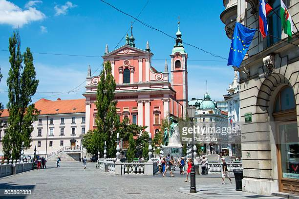CONTENT] The Triple Bridge over the Ljubljanica River in the city center It is a group of three bridges across the Ljubljanica River It connects the...