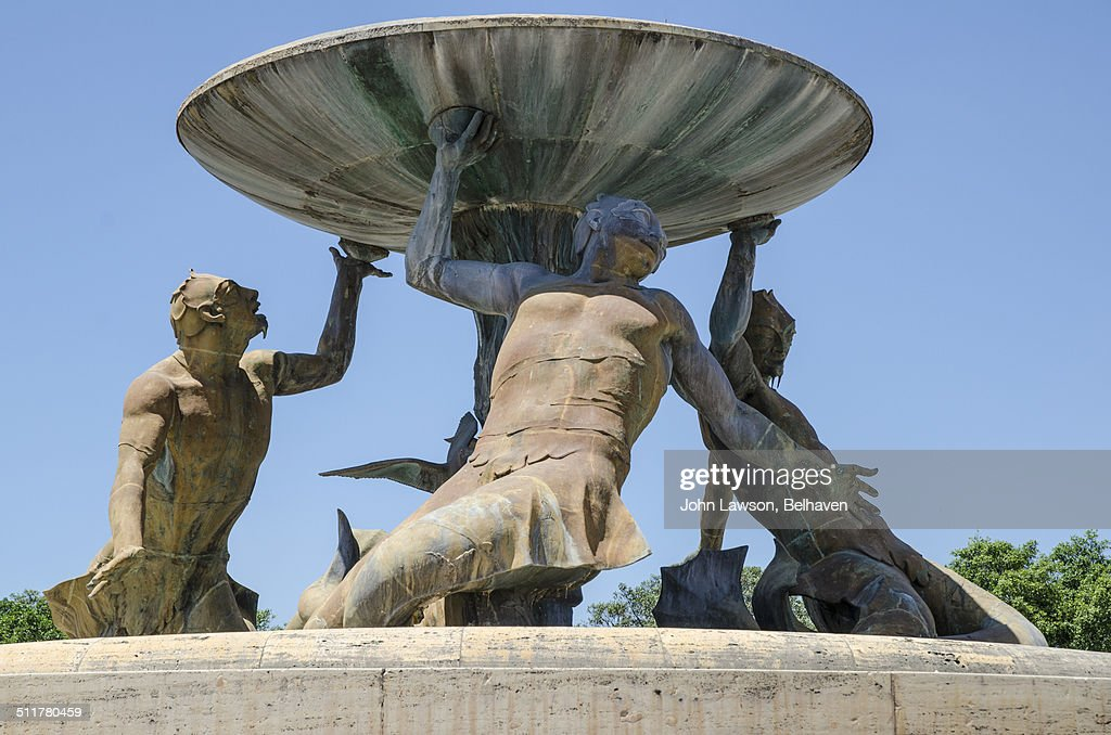 The Triton Fountain, Floriana, Valletta, Malta