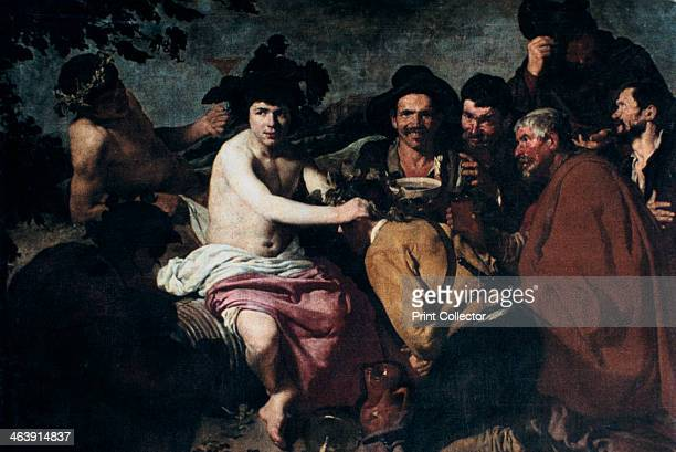 'The Triumph of Bacchus' or 'The Drunkards' 17th Century Velázquez one of the few Spanish painters to depict mythological scenes was often accused of...