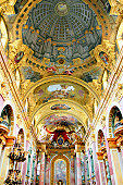 The Jesuit Church (Jesuitenkirche), also known as the University Church (Universitätskirche) is a two-floor, double-tower church in Vienna, Austria, influenced by early Baroque principles but remodele