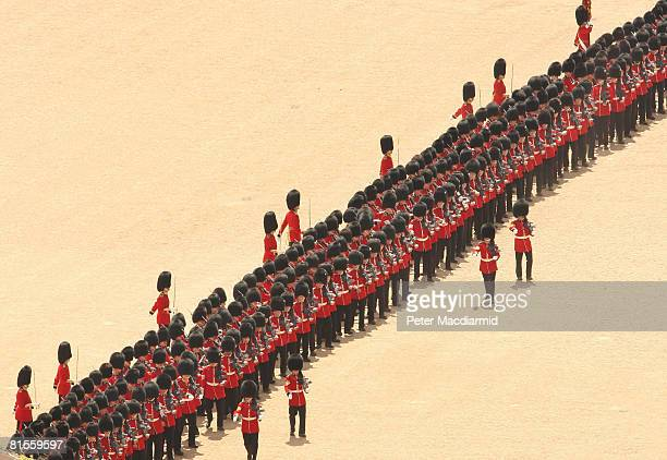 The Trooping the Colour ceremony on June 14 2008 in London The ceremony is Queen Elizabeth II's annual birthday parade and dates back to the time of...