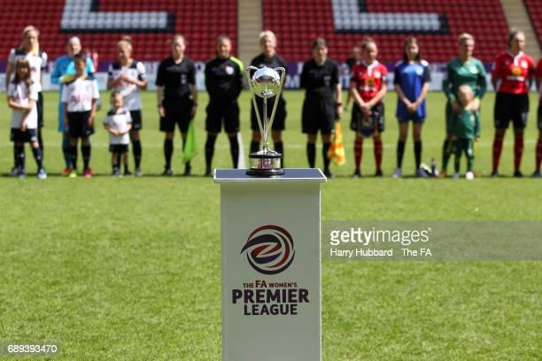 The Trophy before the FA Women's Premier League Playoff Final between Tottenham Hotspur Ladies and Blackburn Rovers Ladies at The Valley on May 28...