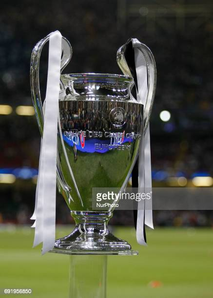 The trophy during Champions League Finals match between Juventus v Real Madrid at Millennium Stadium of Cardiff on june 3 2017