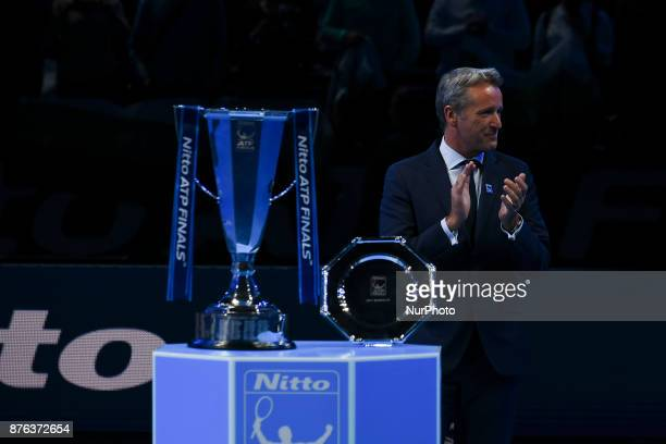 The trophy during day eight of the 2017 Nitto ATP World Tour Finals at O2 Arena on November 19 2017 in London England