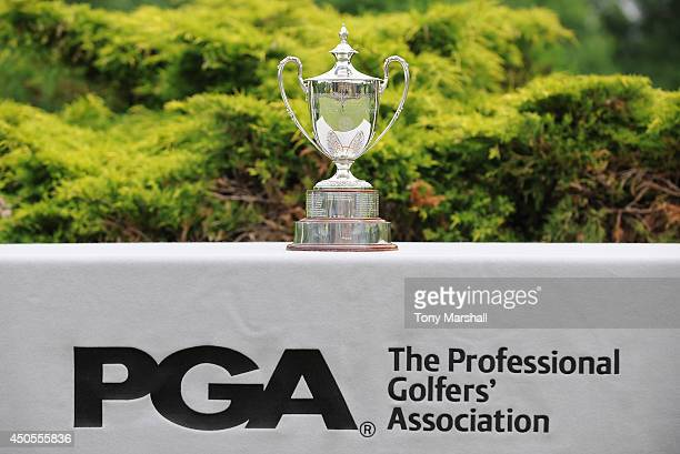 The trophy during the final round of the Powerde PGA Assistants' Championship Final at The Coventry Golf Club on June 13 2014 in Coventry England