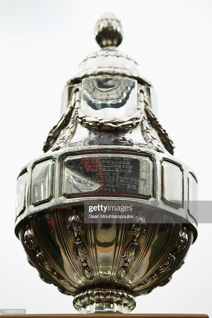 The Trophy is pictured during the Dutch Cup Final between PSV Eindhoven and SC Heracles Almelo at Feijenoord Stadion on April 8 2012 in Rotterdam...