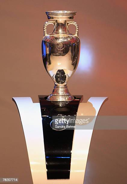 The trophy is seen during the UEFA EURO2008 Final Draw at the KKL on December 2 2007 in Lucerne Switzerland