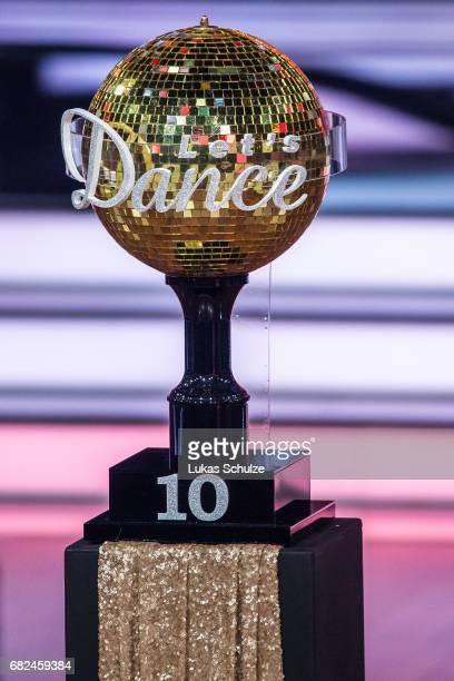 The trophy is seen on stage during the 8th show of the tenth season of the television competition 'Let's Dance' on May 12 2017 in Cologne Germany
