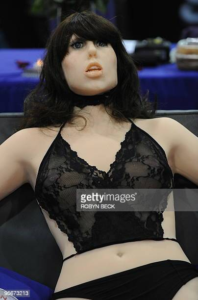 The 'True Companion' sex robot Roxxxy is on display at the TrueCompanioncom booth at the AVN Adult Entertainment Expo in Las Vegas Nevada January 9...