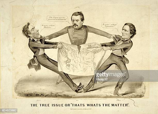 The True Issue or 'That's What's the Matter' 1864 In a rare proDemocrat cartoon presidential aspirant George Brinton McClellan is portrayed as the...